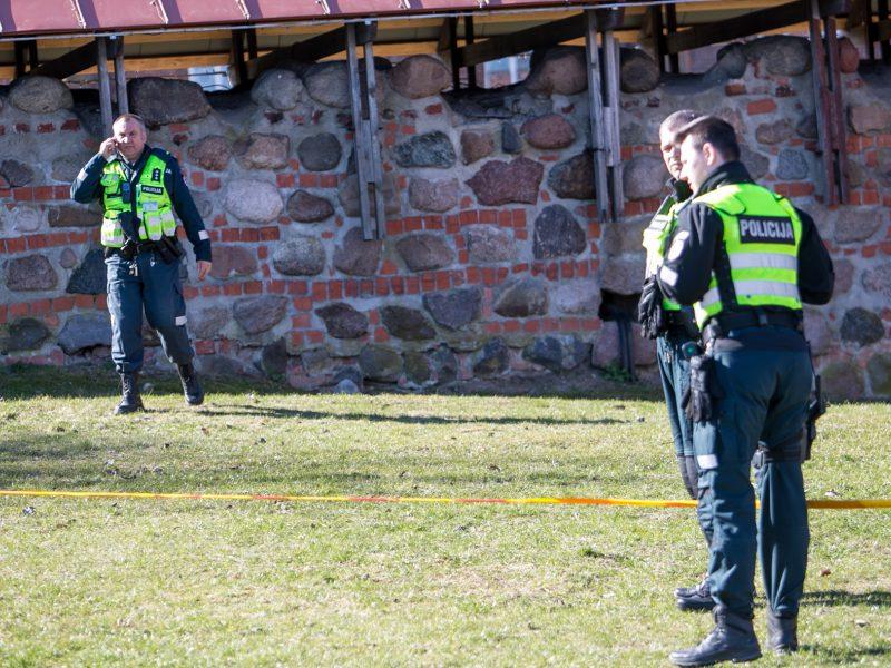 Prie Kauno pilies tvoros rasta mina