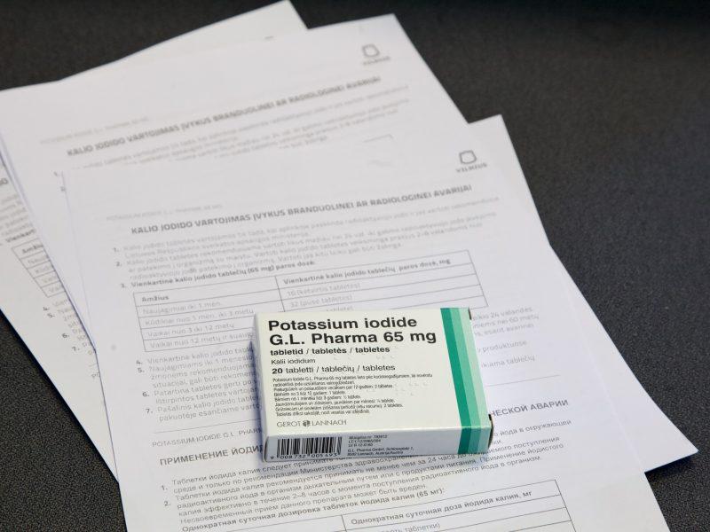 Savivaldybė: vilniečiams jodo tabletės bus dalijamos nuo antradienio