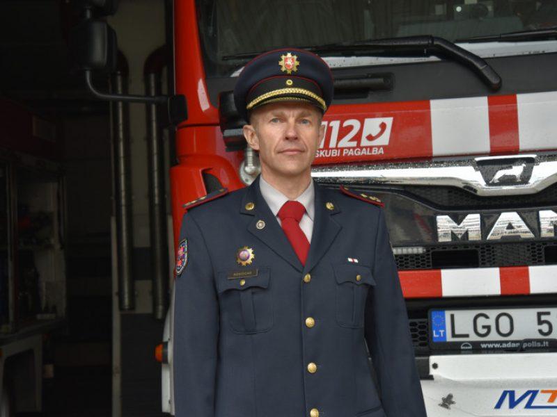 Ugniagesių komandos viršininkas: geriausias garbės kodeksas – žmogiškumas