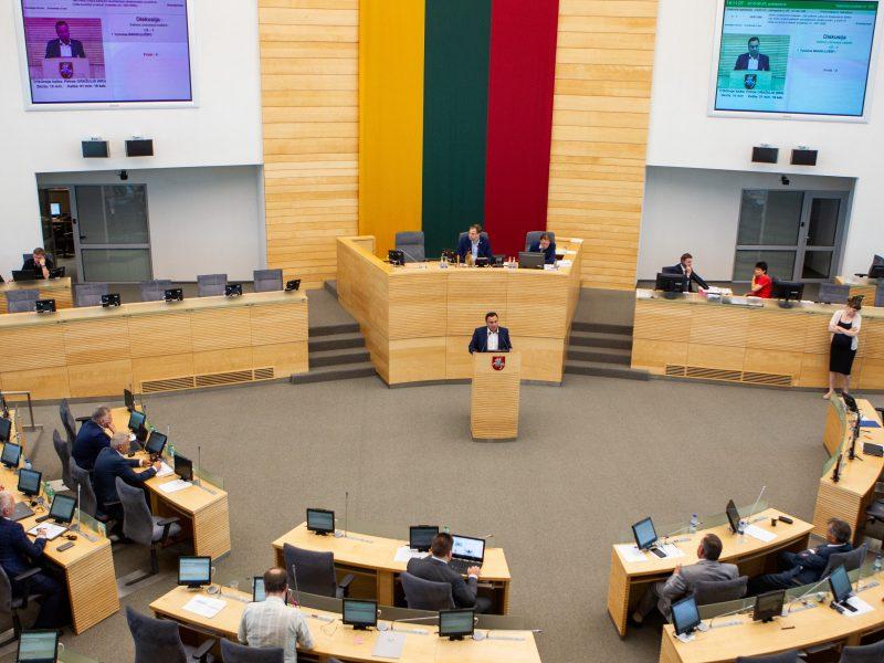 Seimo posėdis dėl P. Gražulio neliečiamybės