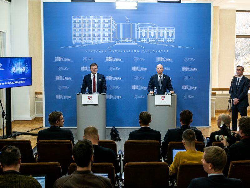 Spaudos konferencija dėl 2020 metų valstybės biudžeto projekto