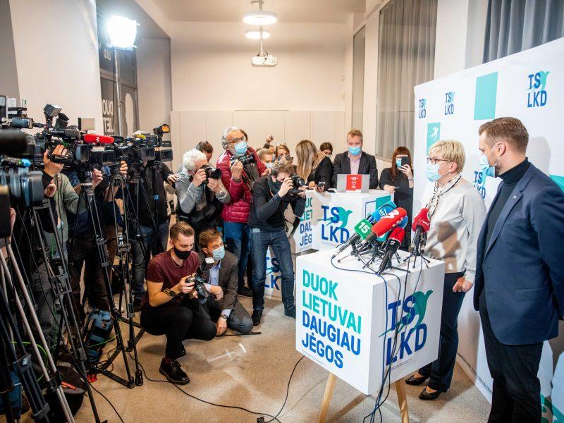 I. Šimonytės ir G. Landsbergio spaudos konferencija