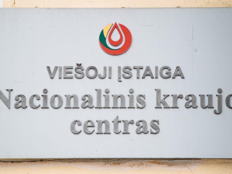 Pertvarkomas Nacionalinis kraujo centras, atsisakoma dalies etatų