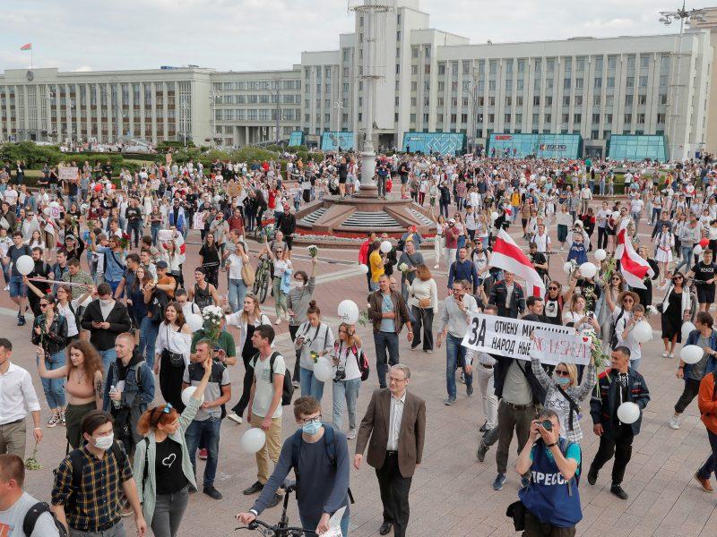 Baltarusijoje toliau nerimsta protestai