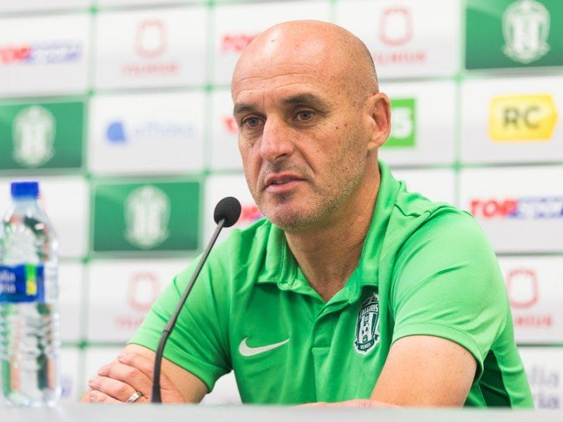 """""""Žalgirio"""" treneris J. Martinsas: futbolas – klaidų žaidimas"""