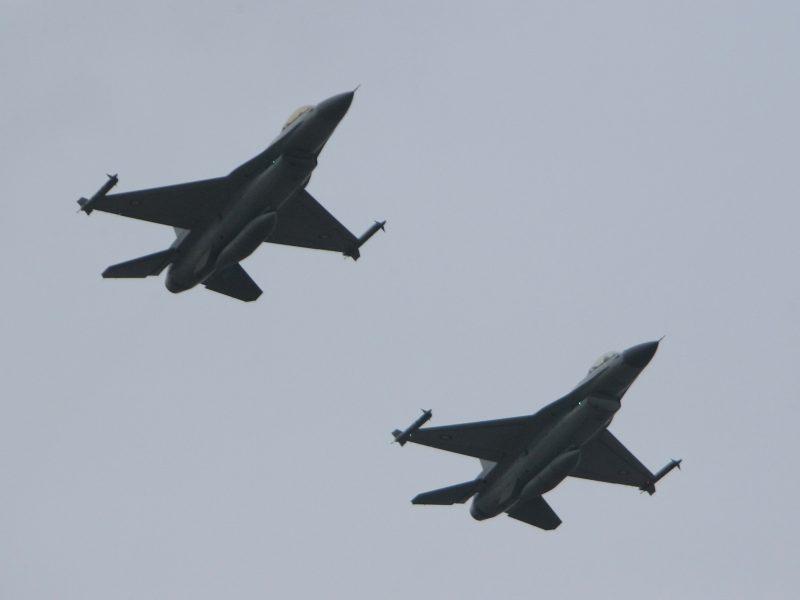 Iš Šiaulių pakilę belgų naikintuvai lydėjo Rusijos lėktuvus