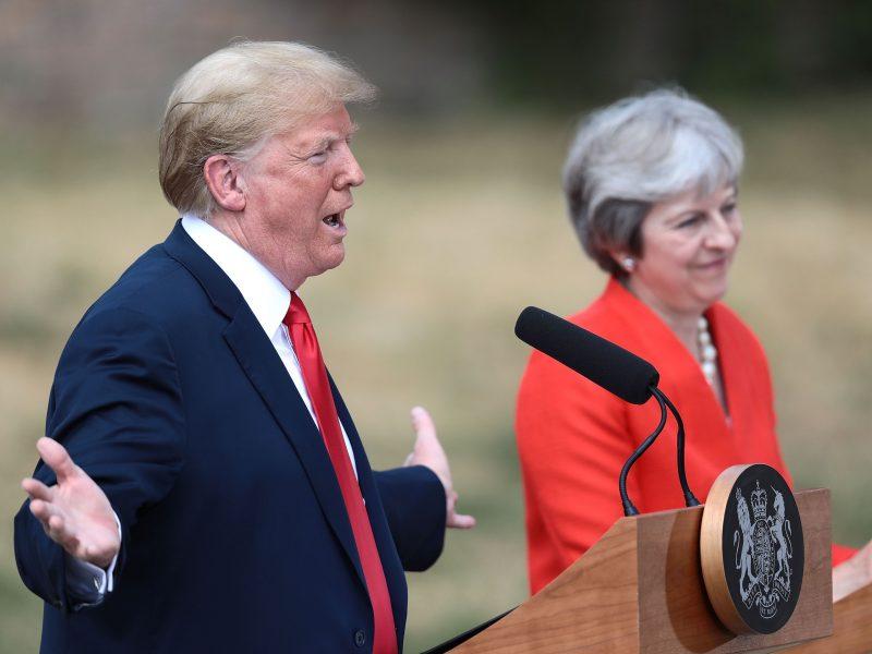"""D. Trumpas nustebęs, kaip blogai vystosi """"Brexit"""" procesas"""