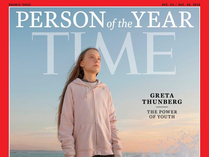 """Klimato aktyvistė G. Thunberg išrinkta žurnalo """"Time"""" metų asmenybe"""