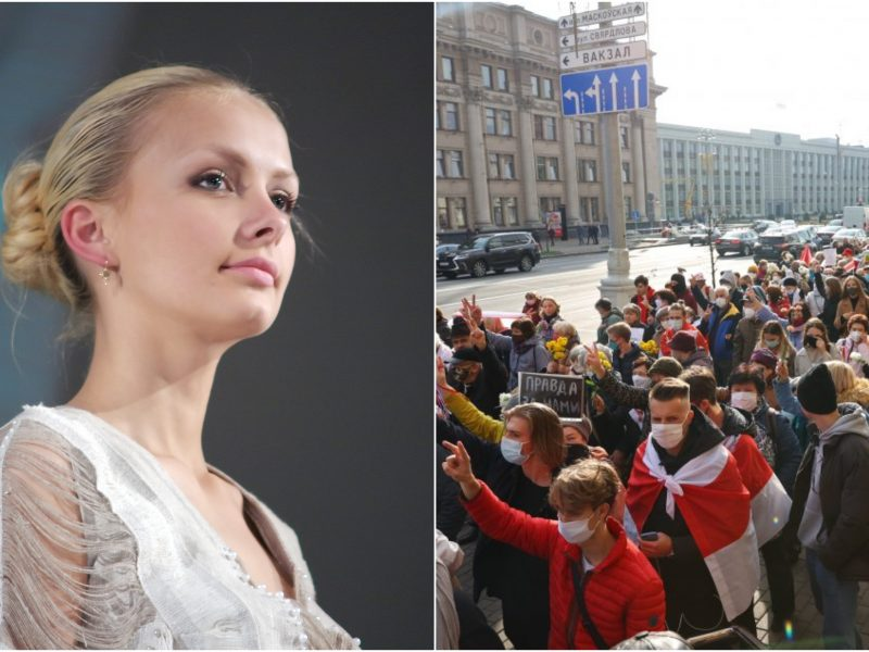 Protestuose dalyvavusiai buvusiai Baltarusijos grožio karalienei skirta 15 parų arešto