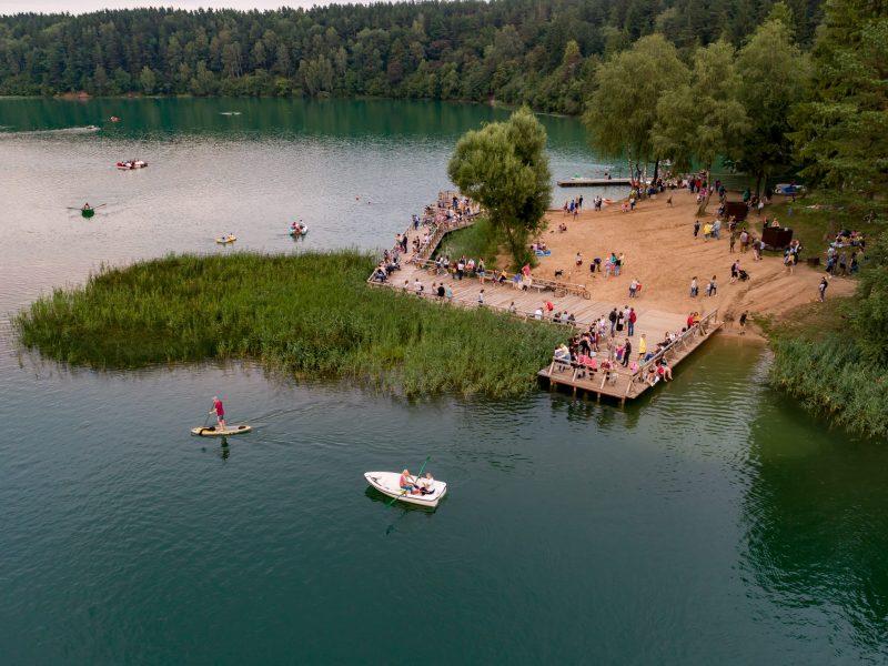 Žaliųjų ežerų paplūdimyje – moderni gelbėjimo stotis