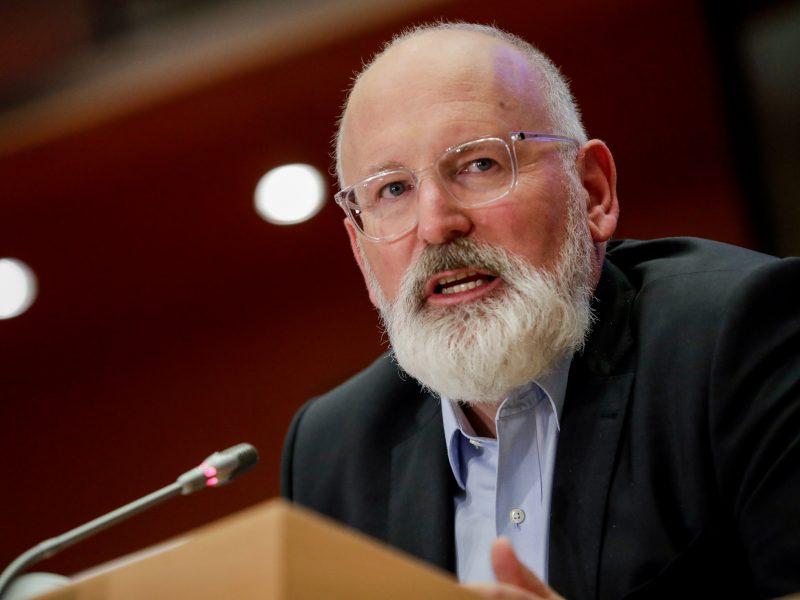 F. Timmermansas: ES iki 2050 metų turi tapti neutrali klimatui