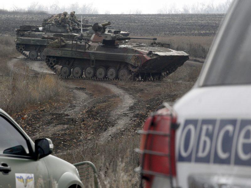 Kijevas ir Donbasas užbaigs pajėgų atitraukimą bandomuosiuose ruožuose