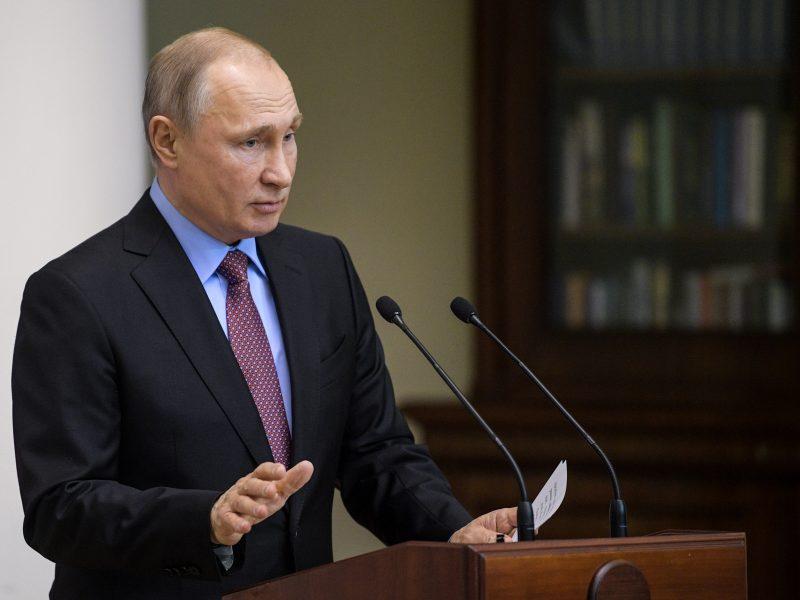 V. Putinas: mums nusispjauti ant Vakarų sankcijų, jei pritrauksime verslą