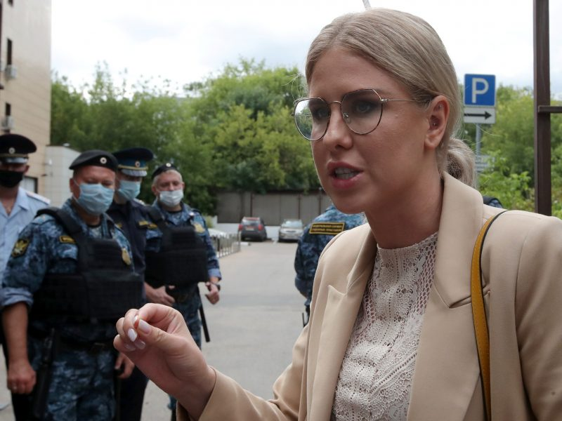 A. Navalno bendražygei L. Sobol teismas skyrė 1,5 metų laisvės apribojimo bausmę