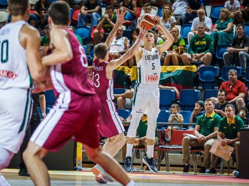 20-mečių krepšinio rinktinė pateko į Europos čempionato ketvirtfinalį