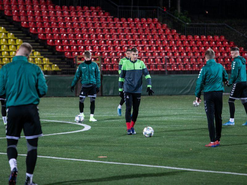 Lietuvos vyrų futbolo rinktinės treniruotė