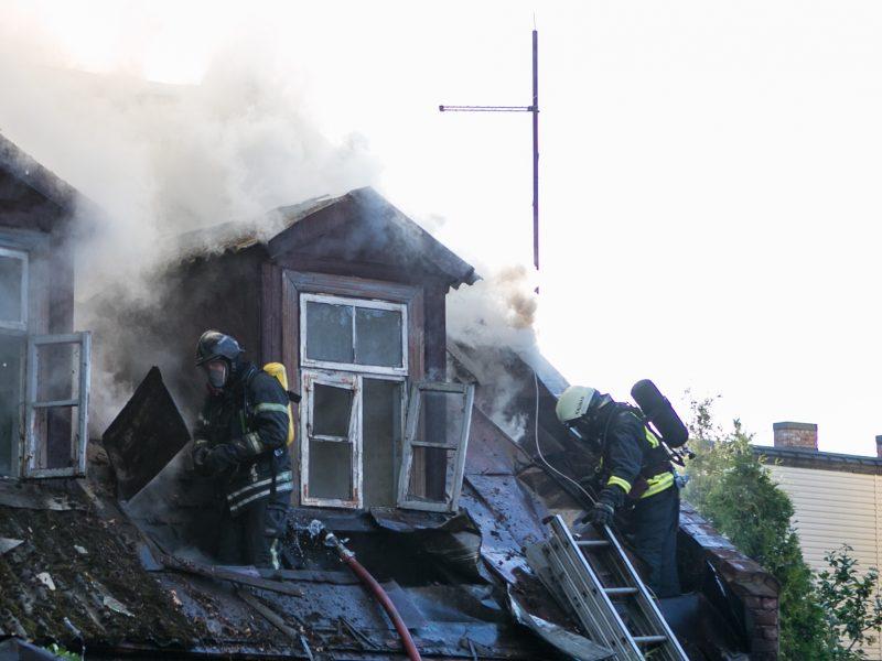 Tragiškas gaisras Sodų gatvėje