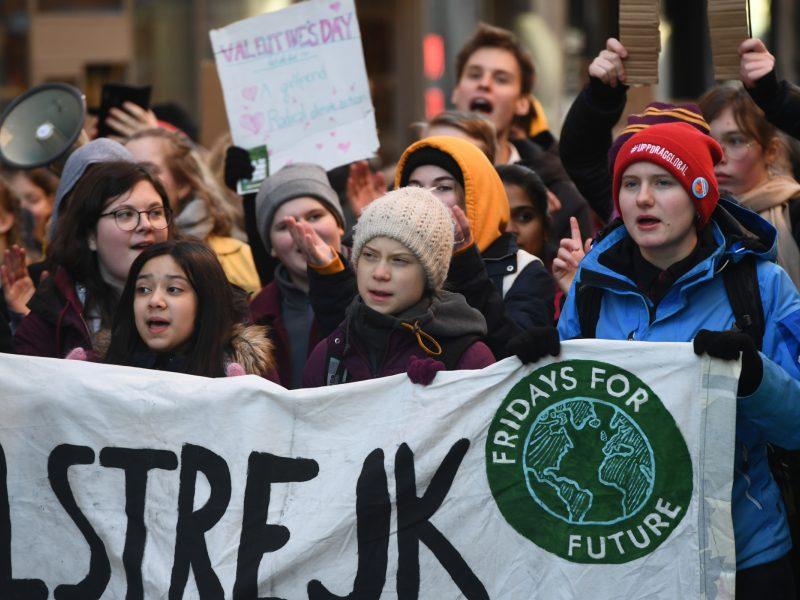 """G. Thunberg protesto Stokholme metu išsakė nusivylimą """"tuščiais žodžiais"""""""