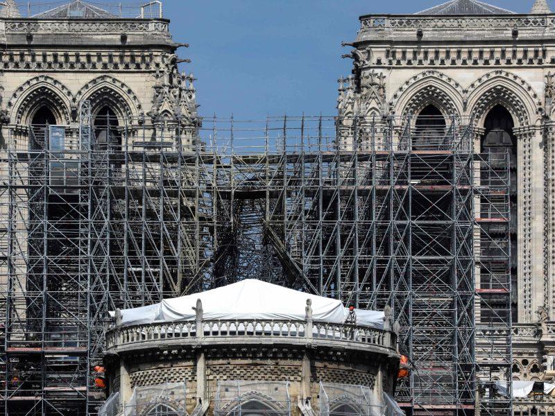Švino nuosėdų lygis prie Paryžiaus katedros dešimtis kartų viršija normą
