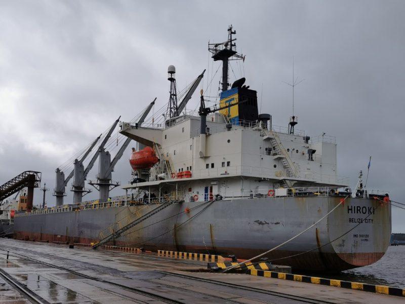 Jūros aplinkos apsaugos inspekcija patikrino laivą su Belizo vėliava dėl oro taršos