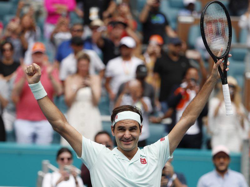 Šveicaras R. Federeris Majamyje iškovojo 101-ąjį ATP titulą