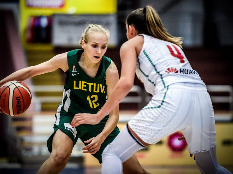 Lietuvos 20-metės krepšininkės pralaimėjo vengrėms