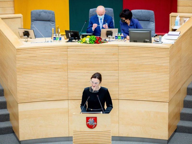 Seimo valdyboje – Seimo pirmininkė ir šeši jos pavaduotojai