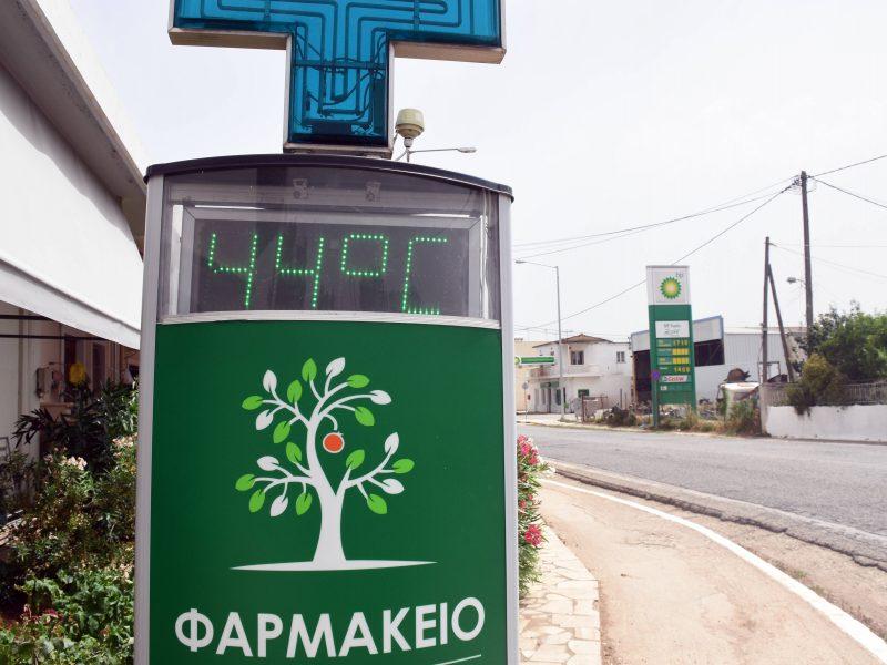 Graikijoje užfiksuota karščiausia diena šiais metais