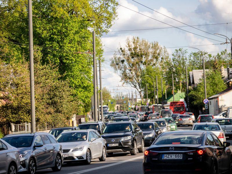 Automobilių spūstys Kaune