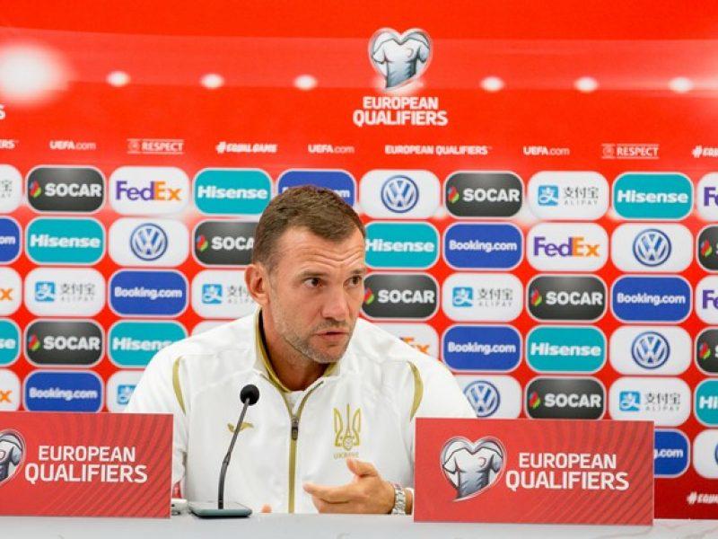 Ukrainos futbolo rinktinės treneris A. Ševčenka: ruošiamės sunkiai kovai
