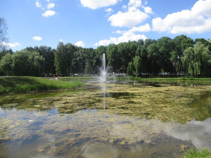 Dumblėtas Kalniečių parko tvenkinys