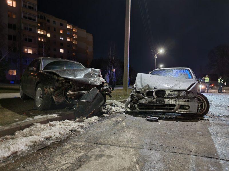 Stipri avarija Baltijos gatvėje