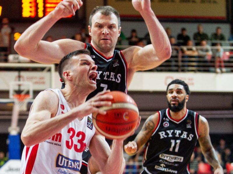 """LKL ketvirtfinalis: """"Rytas"""" krito Utenoje"""