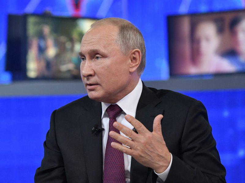 V. Putinas ragina maskviečius laikytis karantino reikalavimų