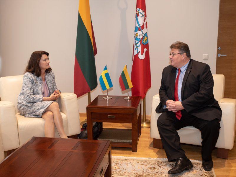 Lietuvos ir Švedijos užsienio reikalų ministrai aptarė bendradarbiavimą