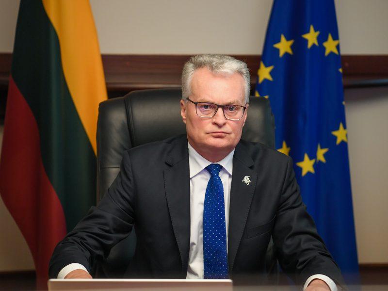 Daugiau nei pusė lietuvių mano, kad Lietuvai EVT turėtų atstovauti G. Nausėda