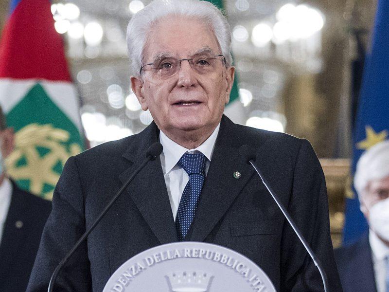 Italijos prezidentas prašo derybas dėl koalicijos baigti per 4 dienas