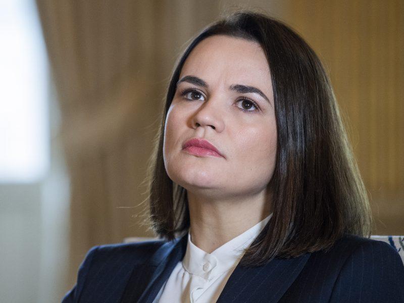 Baltarusijos opozicijos lyderė ragina JAV įvesti daugiau sankcijų ir izoliuoti A. Lukašenką