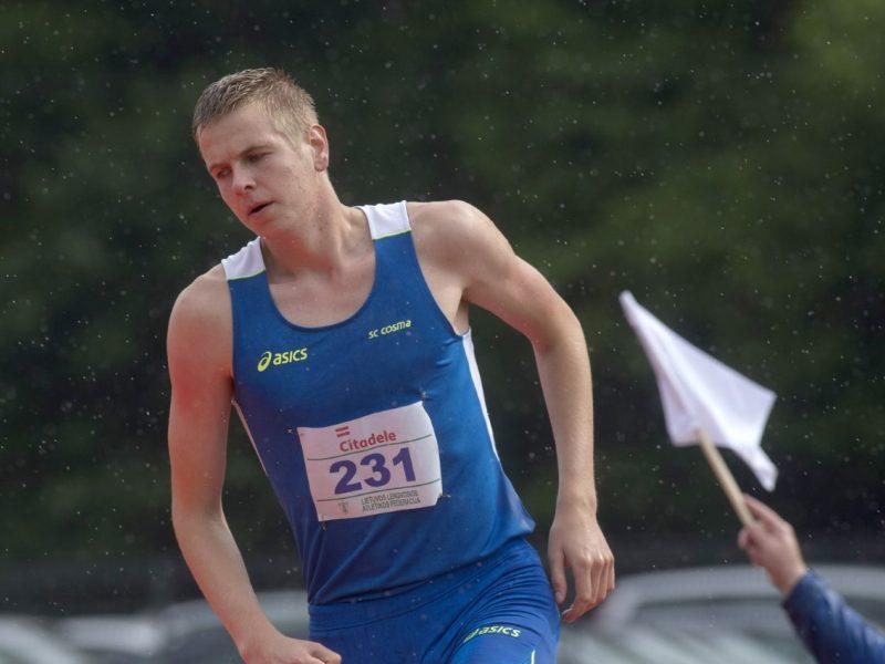 Šiaurės ir Baltijos šalių jaunimo pirmenybėse sidabrą pelnė A. Glebauskas
