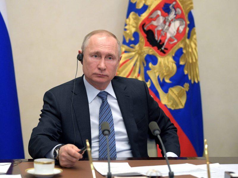 """V. Putinas per G-20 susitikimą paragino paskelbti sankcijų """"moratoriumą"""""""