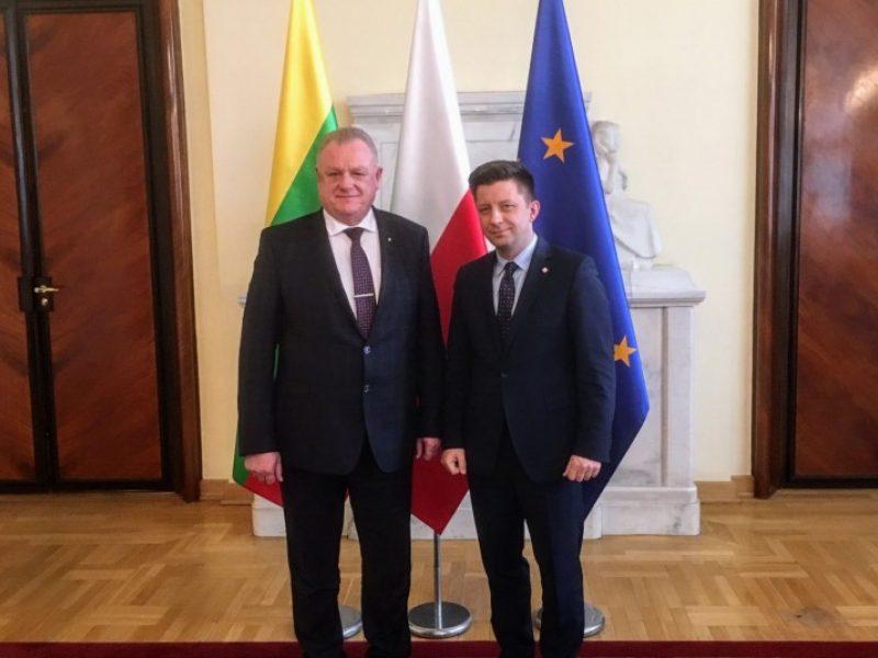 Varšuvoje aptartas pasirengimas Lenkijos premjero vizitui Lietuvoje
