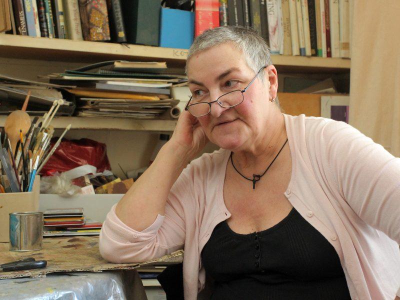 Menininkė E. Velaniškytė: stengiuosi drobę išgirsti