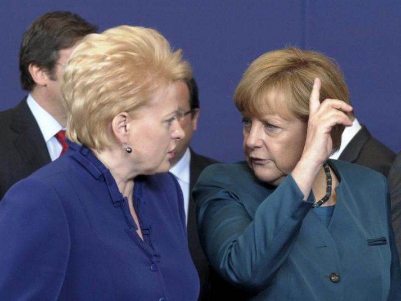 Dėl A. Merkel traumos atšauktas D. Grybauskaitės vizitas į Vokietiją