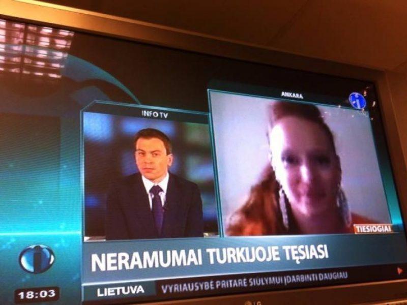 D. Virbilaitė tapo specialiąja korespondente Ankaroje