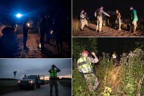 Pasieniečiai naktį sulaikė ir apgręžė atgal į Baltarusiją dešimtis neteisėtų migrantų