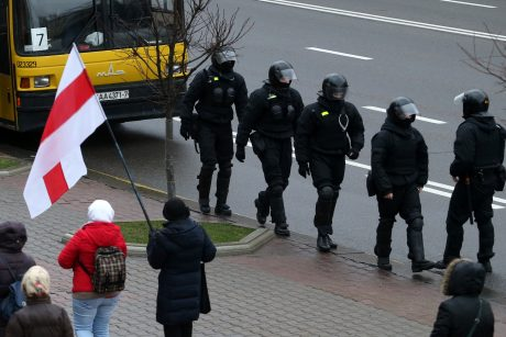 Minske prasidėjo eilinė protesto akcija