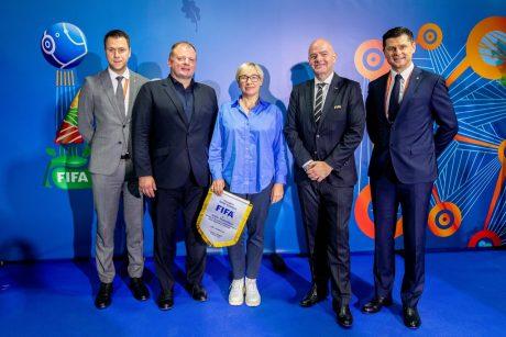 Lietuvoje viešėjęs FIFA prezidentas: artimiausiais metais čempionato nauda pasimatys dar labiau