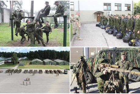 """Baigėsi pratybos """"Ąžuolinis ryžtas 2021"""": įgūdžius atnaujino beveik 400 atsargos karių"""