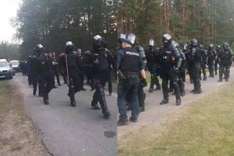 Policija pradėjo ikiteisminį tyrimą dėl riaušių prie Rūdninkų poligono