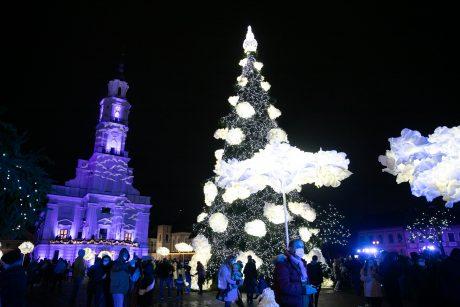 Kauno Kalėdų eglutės įžiebimo šventės akimirkos (vaizdo įrašas)